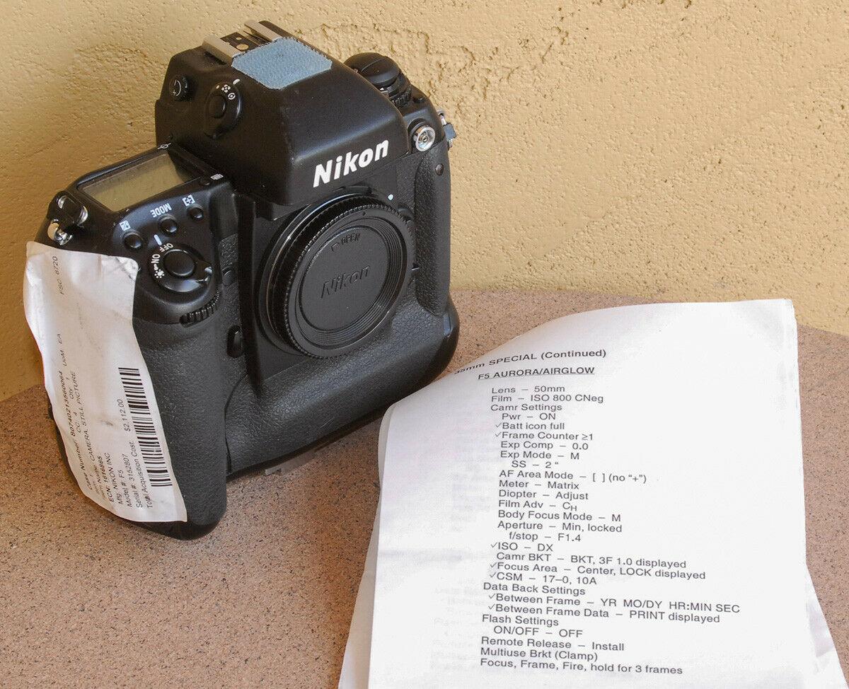 Nasa Nikon F5 (Pic: Spud/eBay)