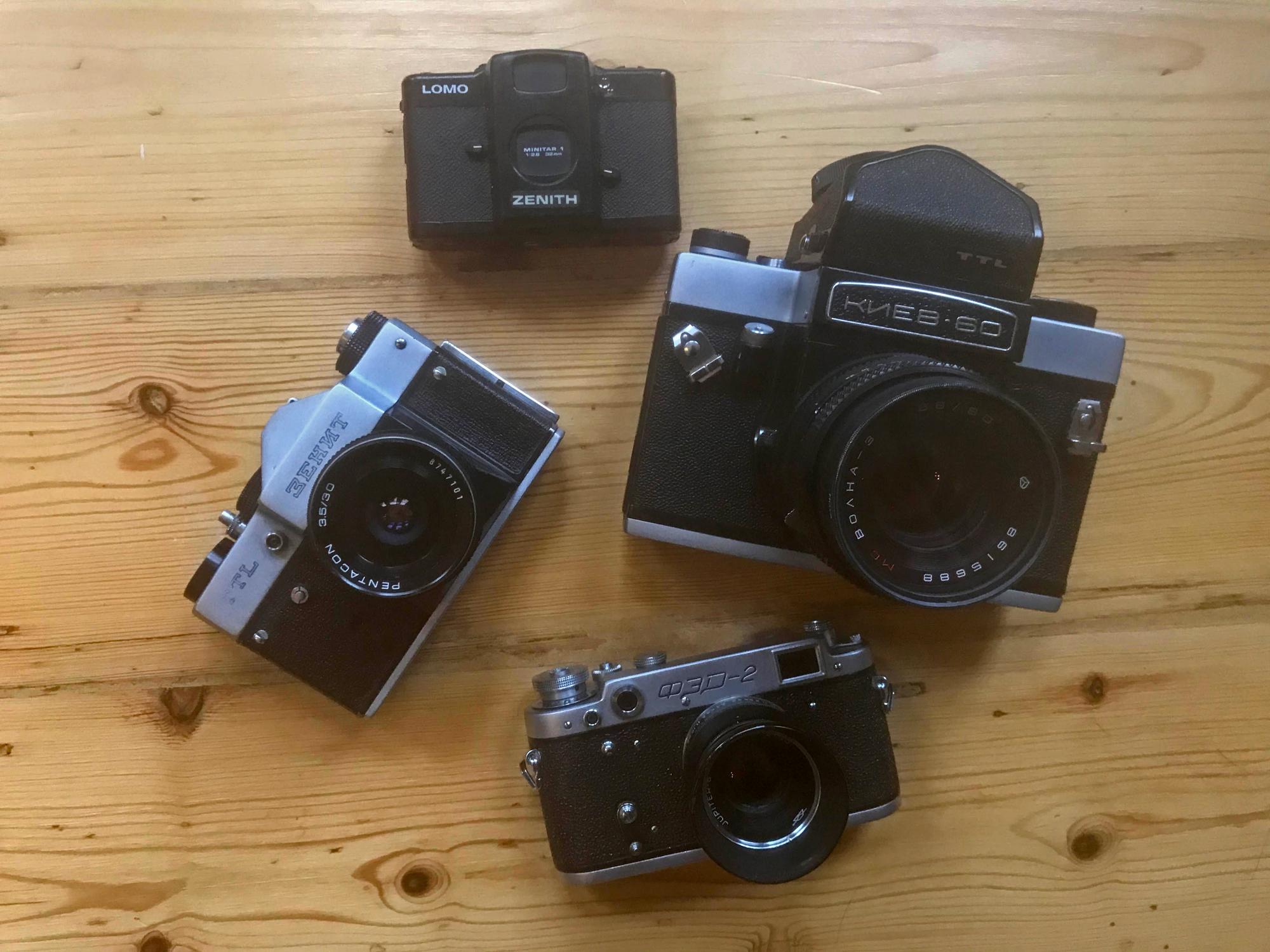 Soviet cameras (Pic: Stephen Dowling)
