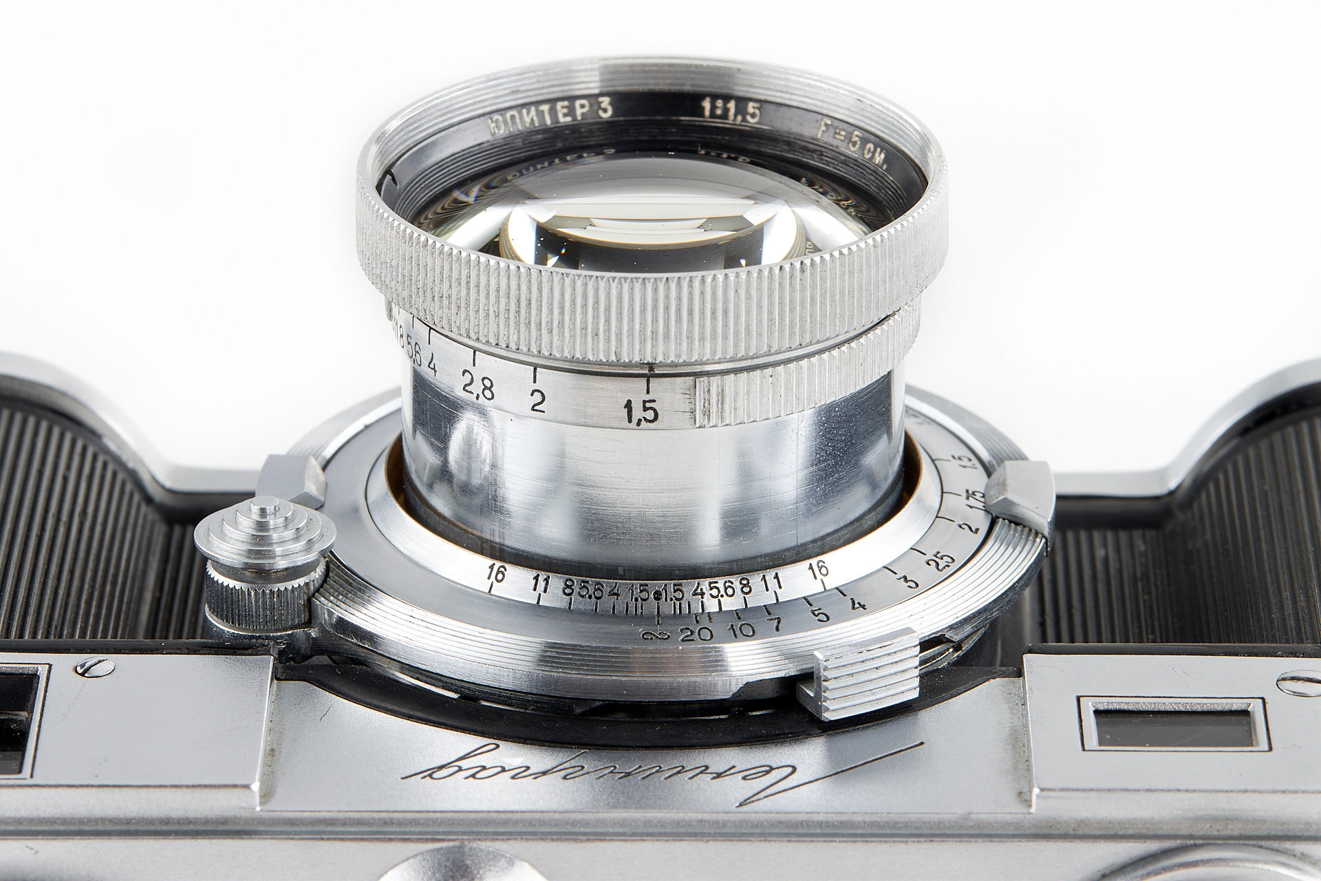 Close up of Jupiter-3 lens (Pic: Leitz Photographica Auction)