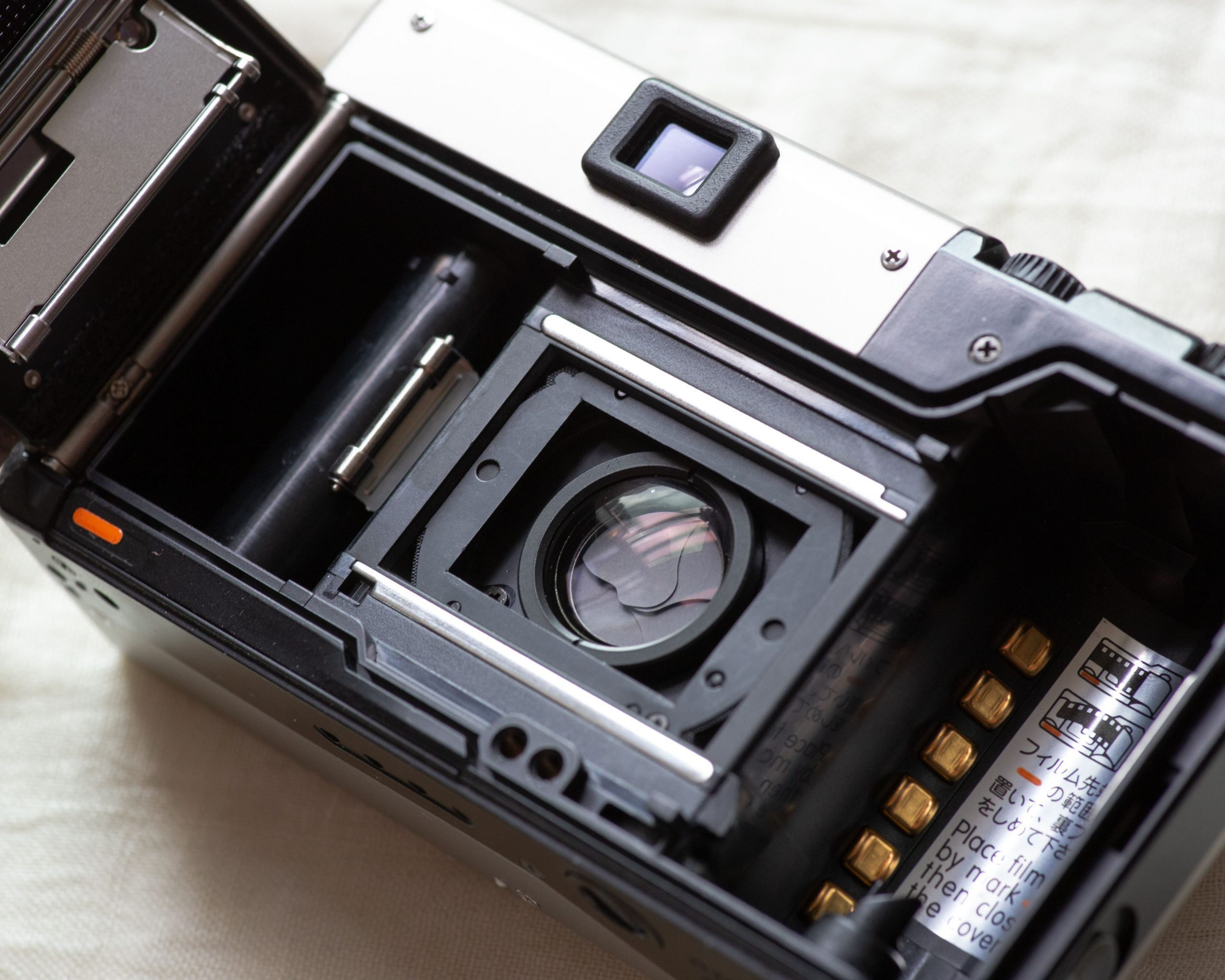 Contax T3 film chamber (Pic: Jay SE1)
