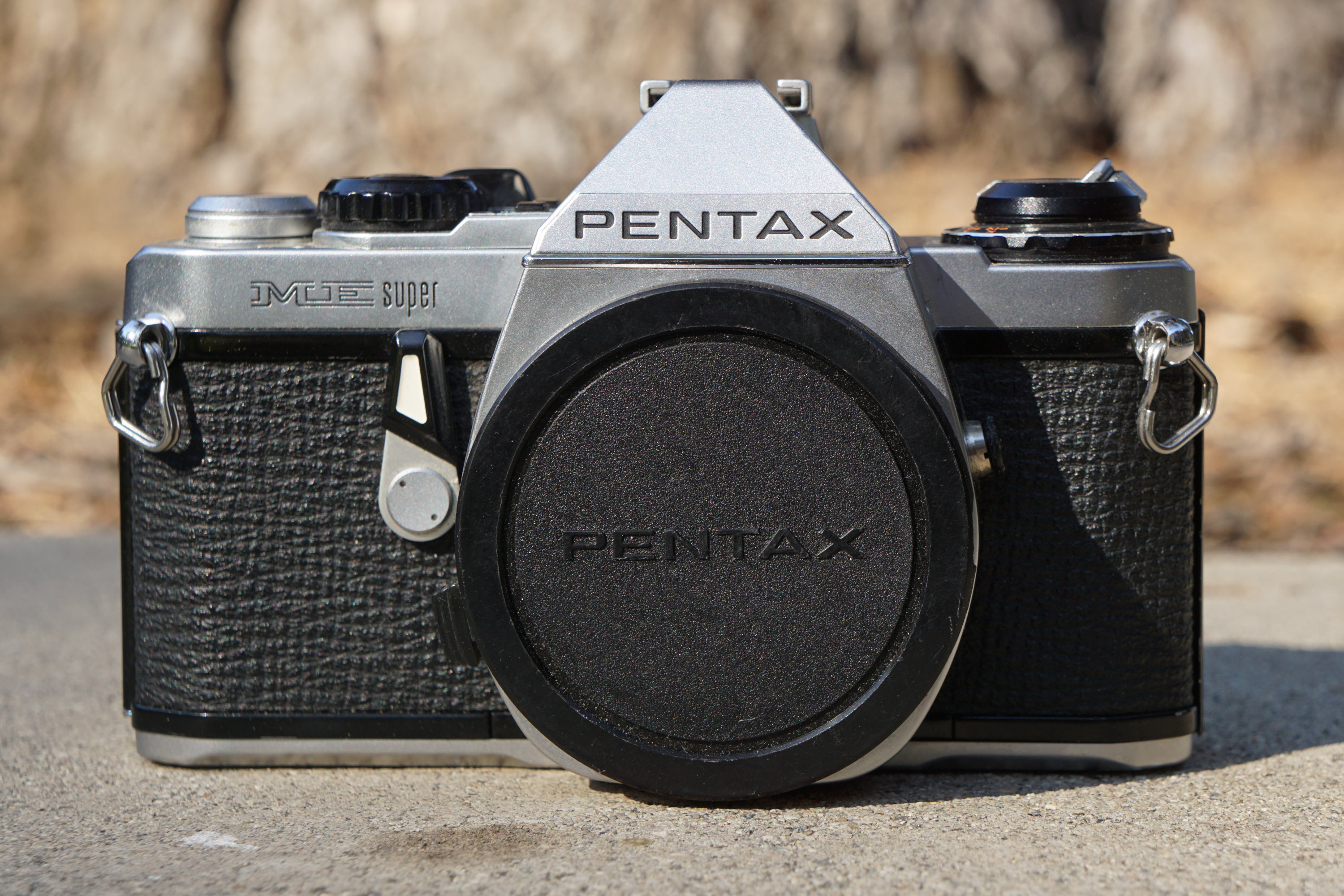 Pentax ME Super front view (Pic: Aaron Gold)