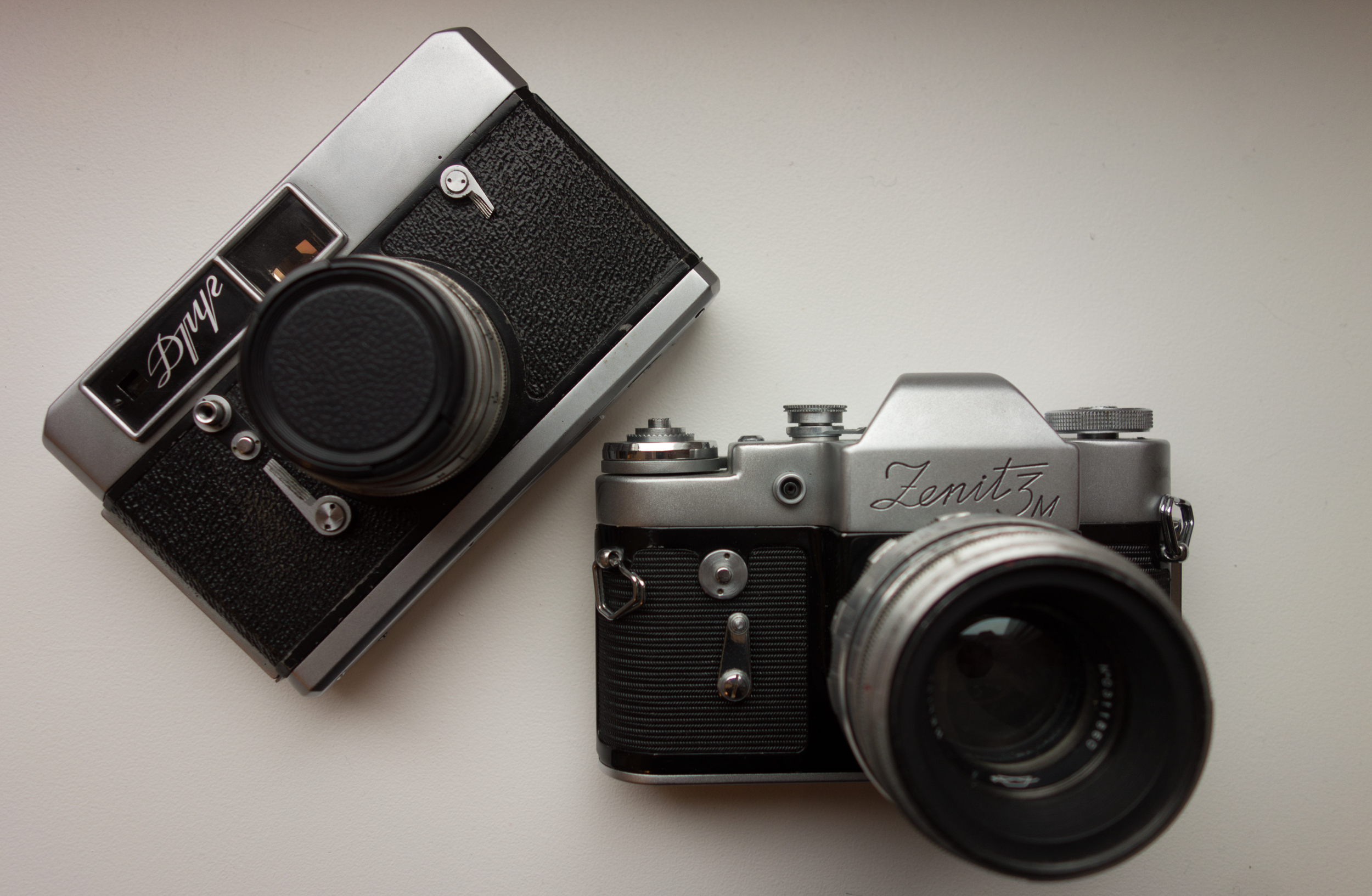 Drug and Zenit-3M cameras (Pic: Stephen Dowling)