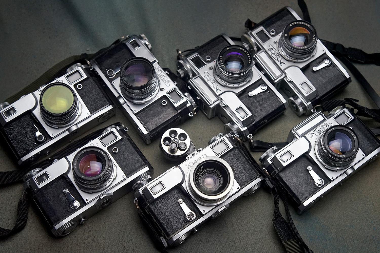 Kiev rangefinder cameras (Pic: Jay Javier)