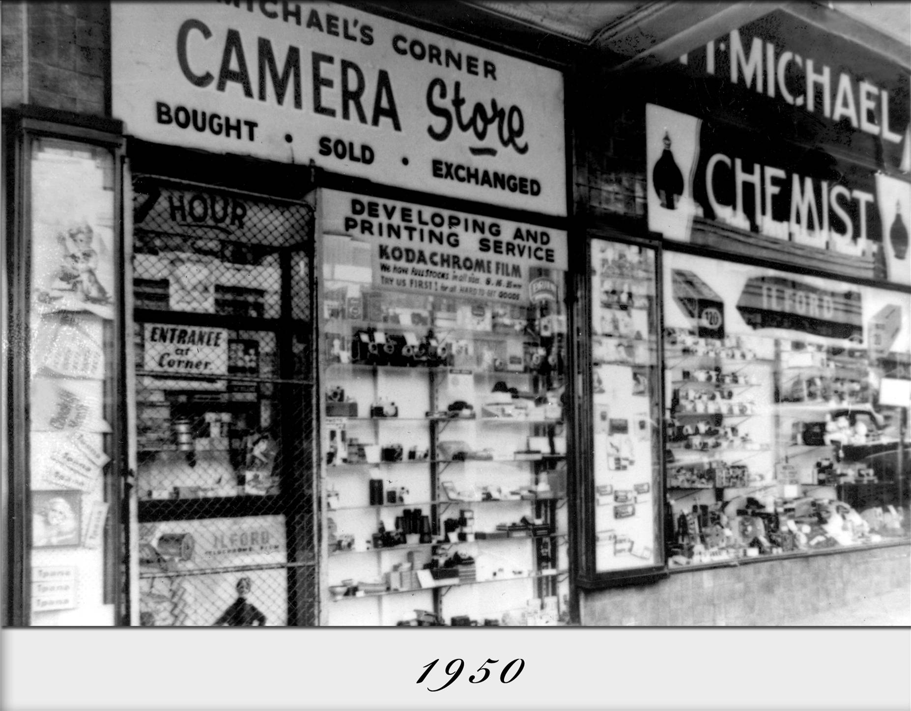Michels Camera Store in 1950 (Pic: Michael Camera Video and Digital)