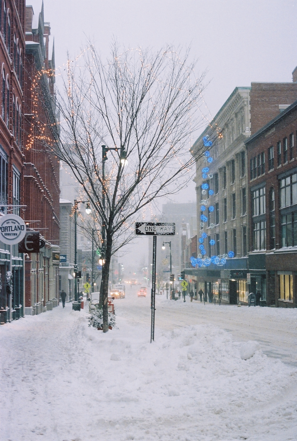 Snowy Portland street (Pic: Andrew McClees)