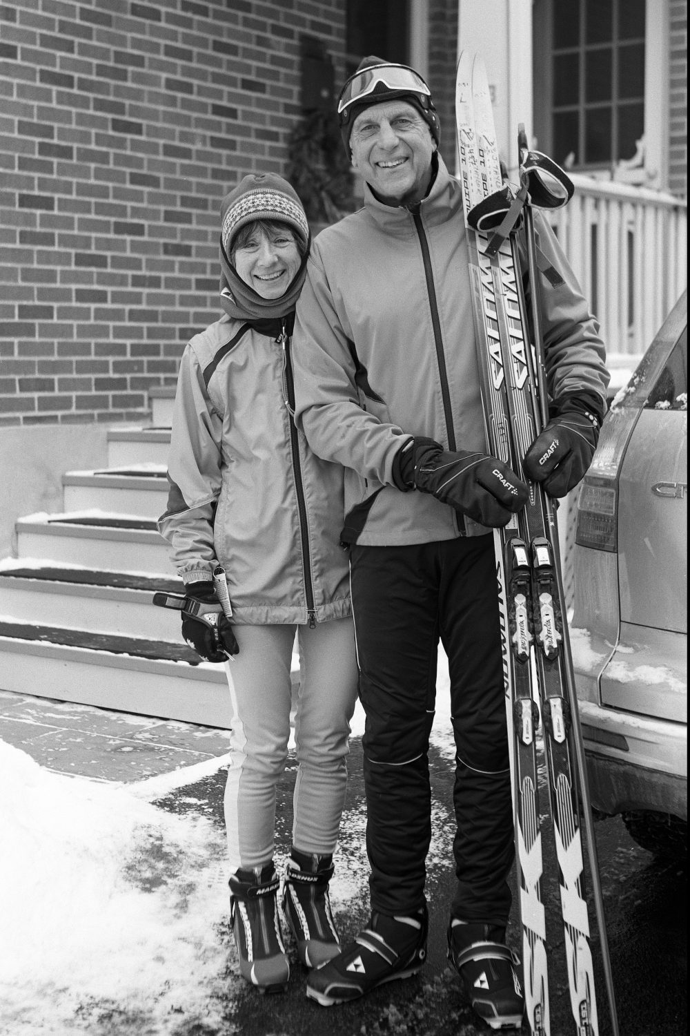 Couple with skis (Pic: Howard Sandler)