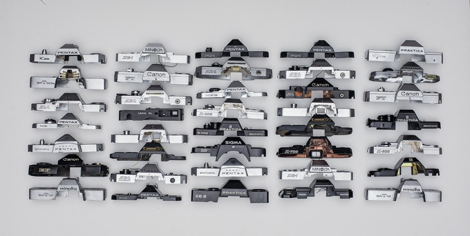 Various camera top plates (Pic: Nils Bergendal/Kickstarter)