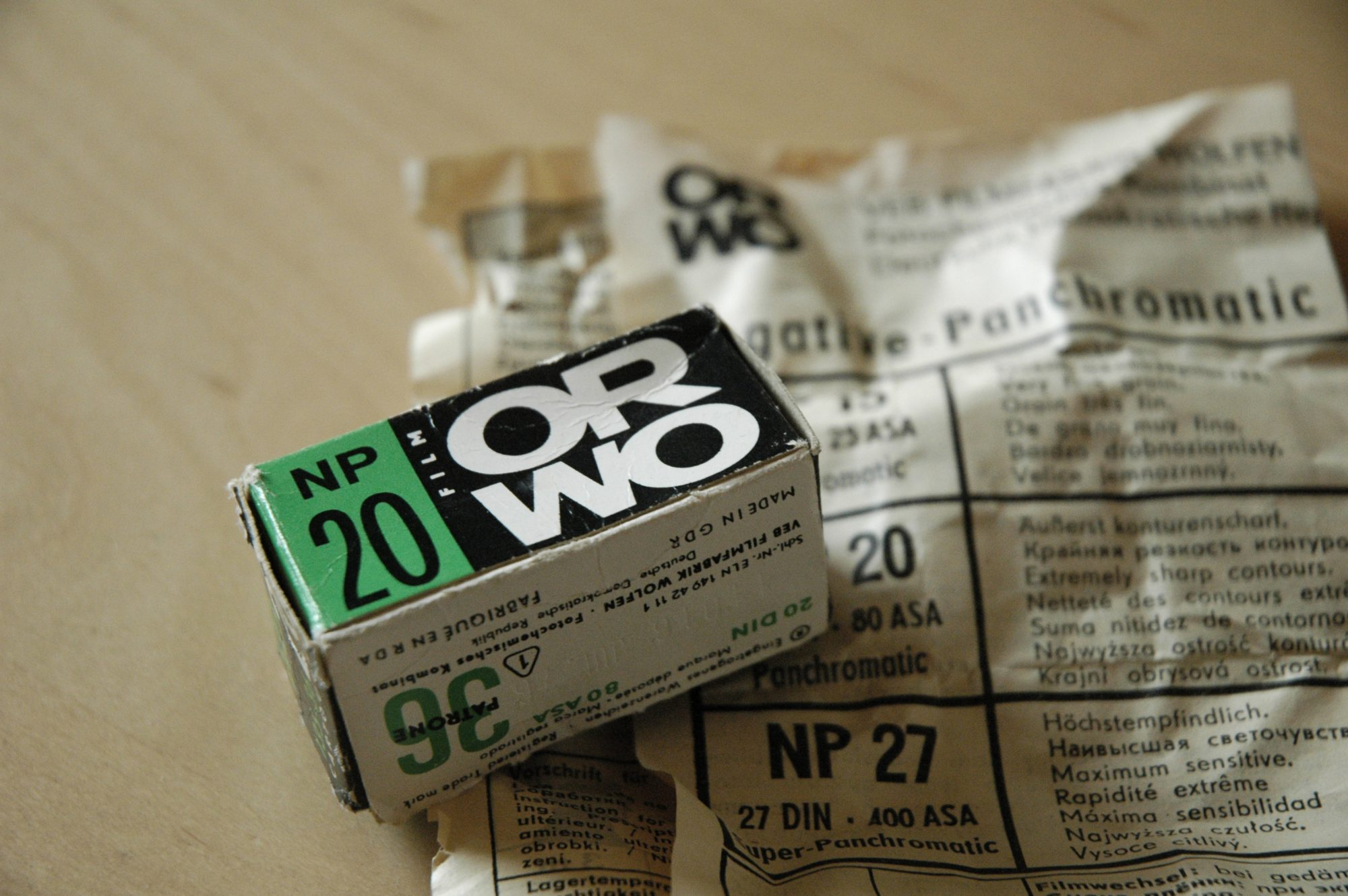 ORWO NP20 film (Pic: Peter Shaman/Wikimedia Commons)
