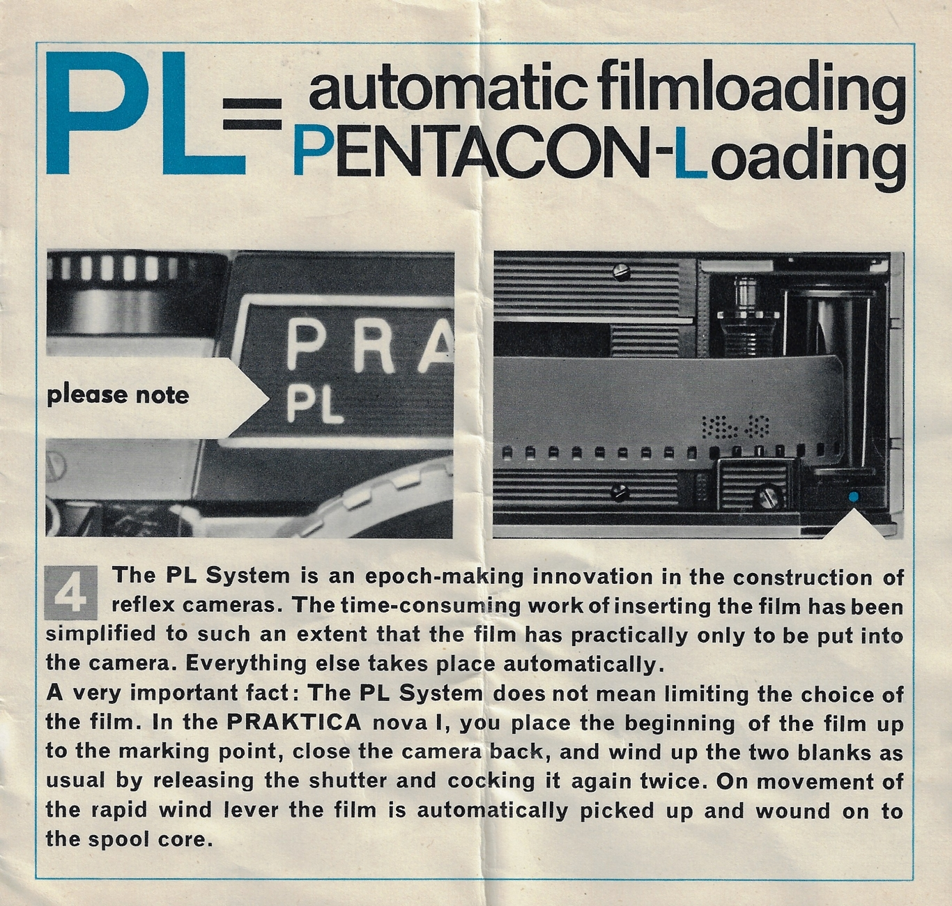 Pentacon Loading instructions (Pic: Keith Walker)