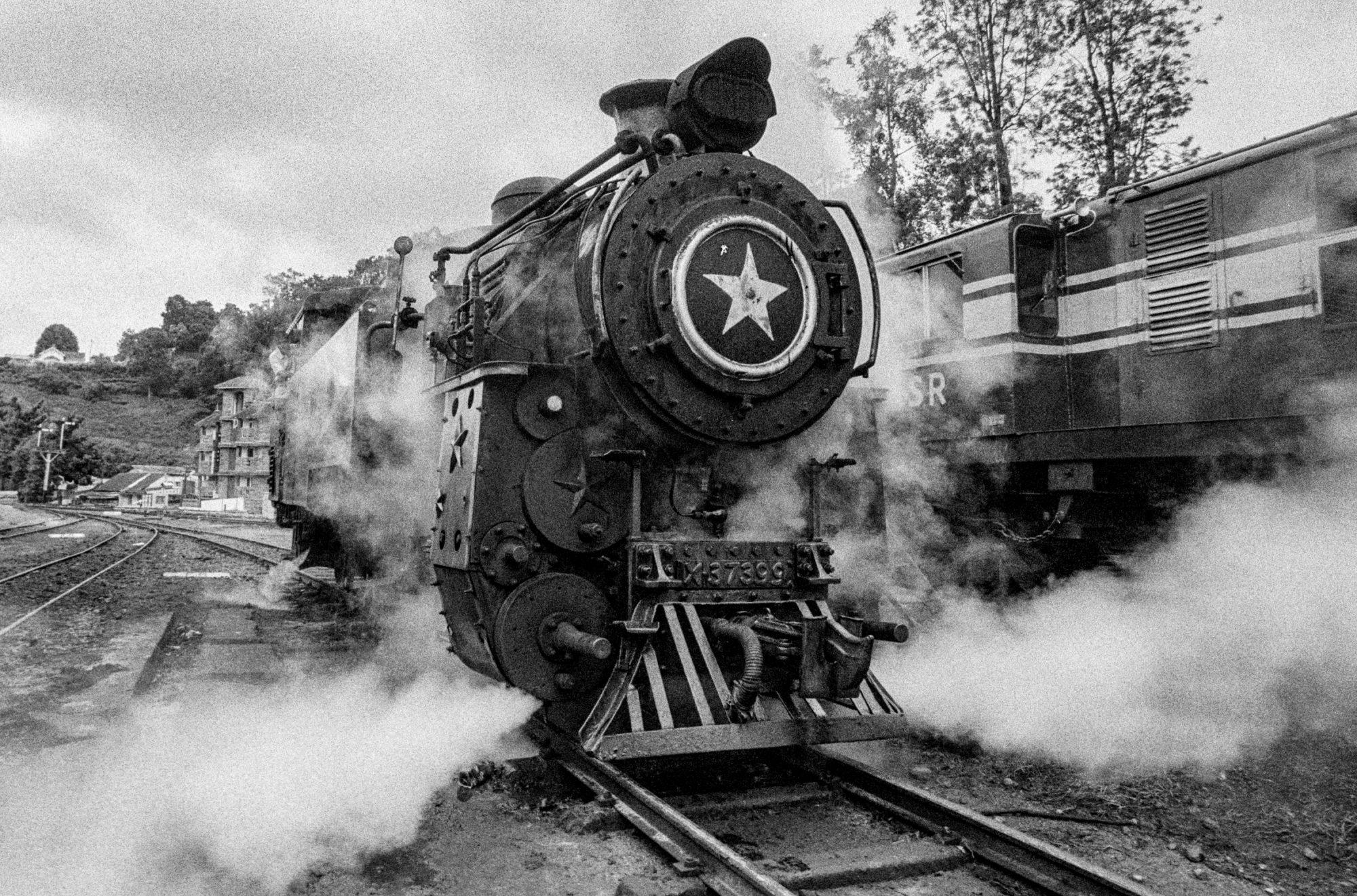 Steam train at station (Pic: Nandakumar Narasimhan)