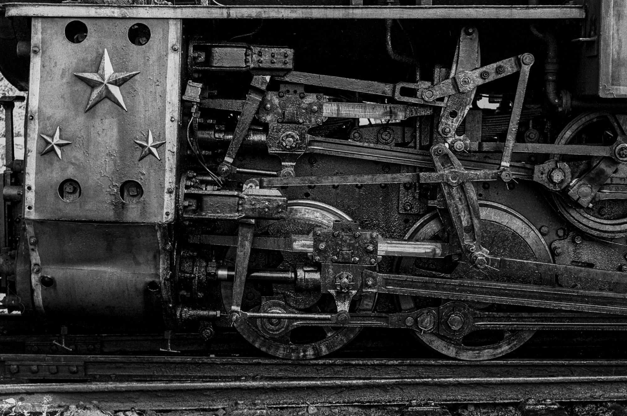 Close-up of train wheels (Pic: Nandakumar Narasimhan)