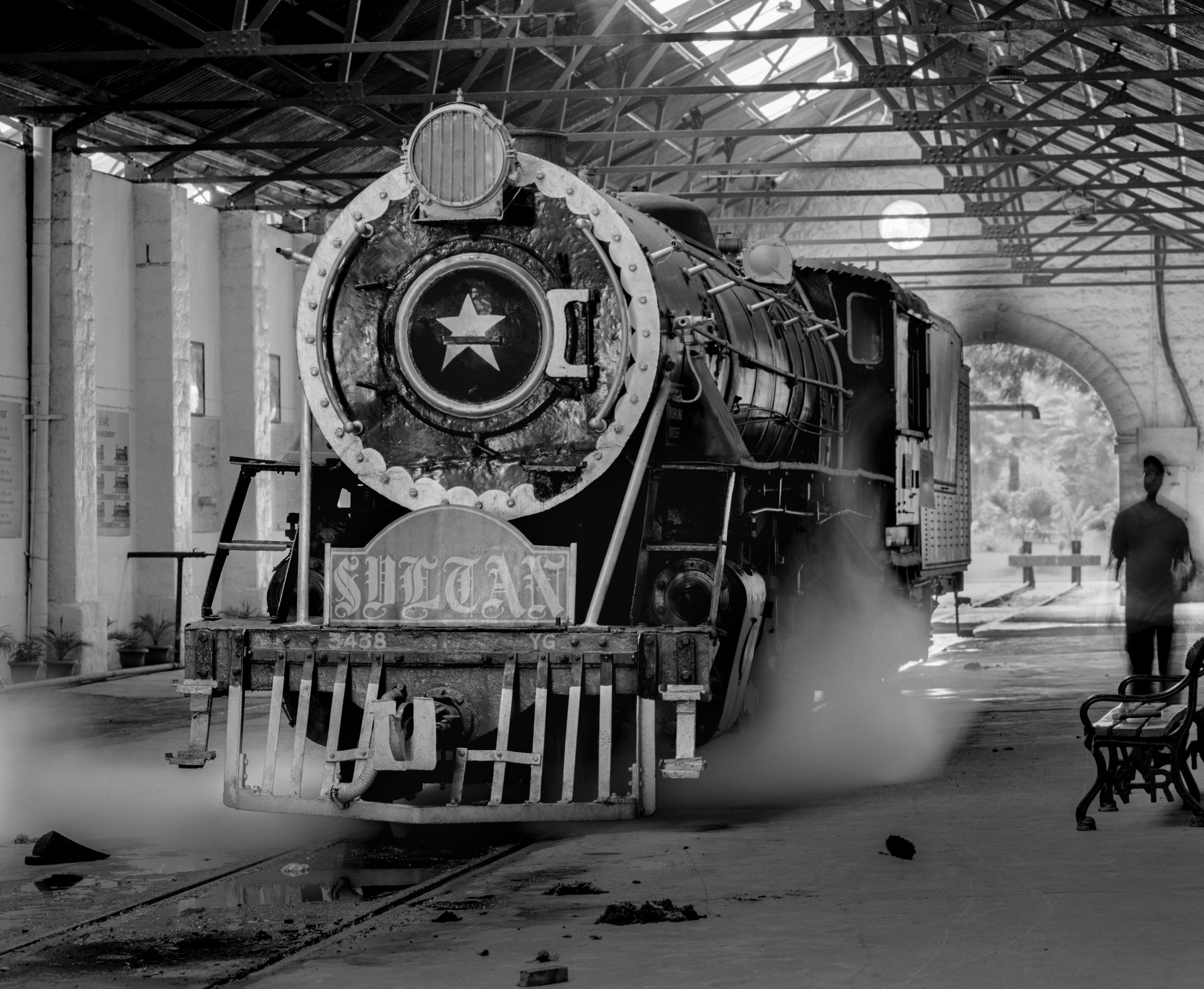 Steam train in shed (Pic: Nandakumar Narasimhan)