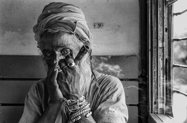 Mendicant smoking marijuana (Pic: Nandakumar Narasimhan)