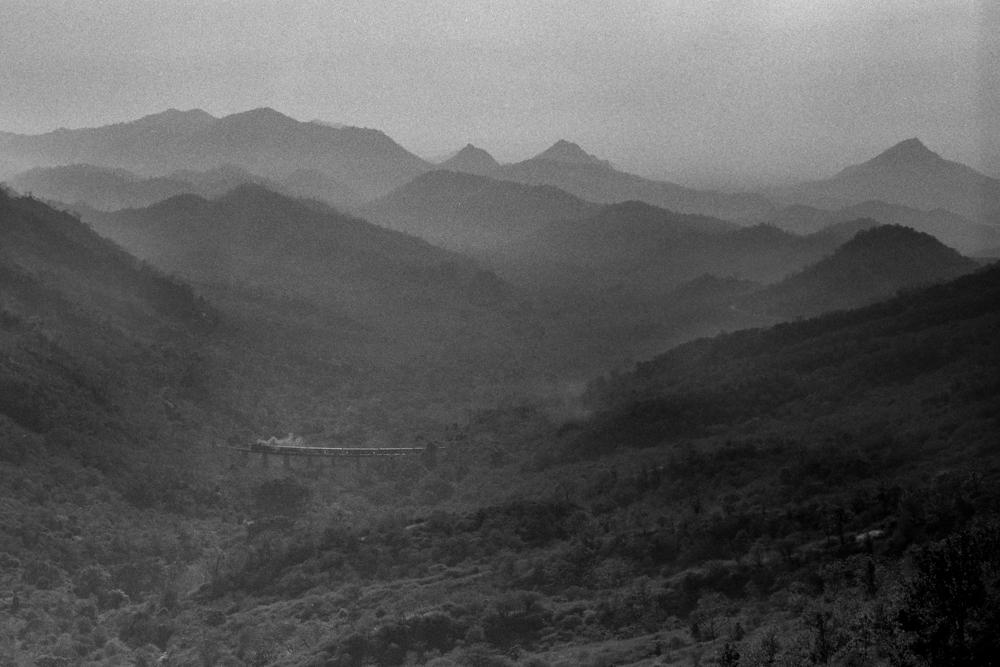 Train in far distance (Pic: Nandakumar Narasimhan)