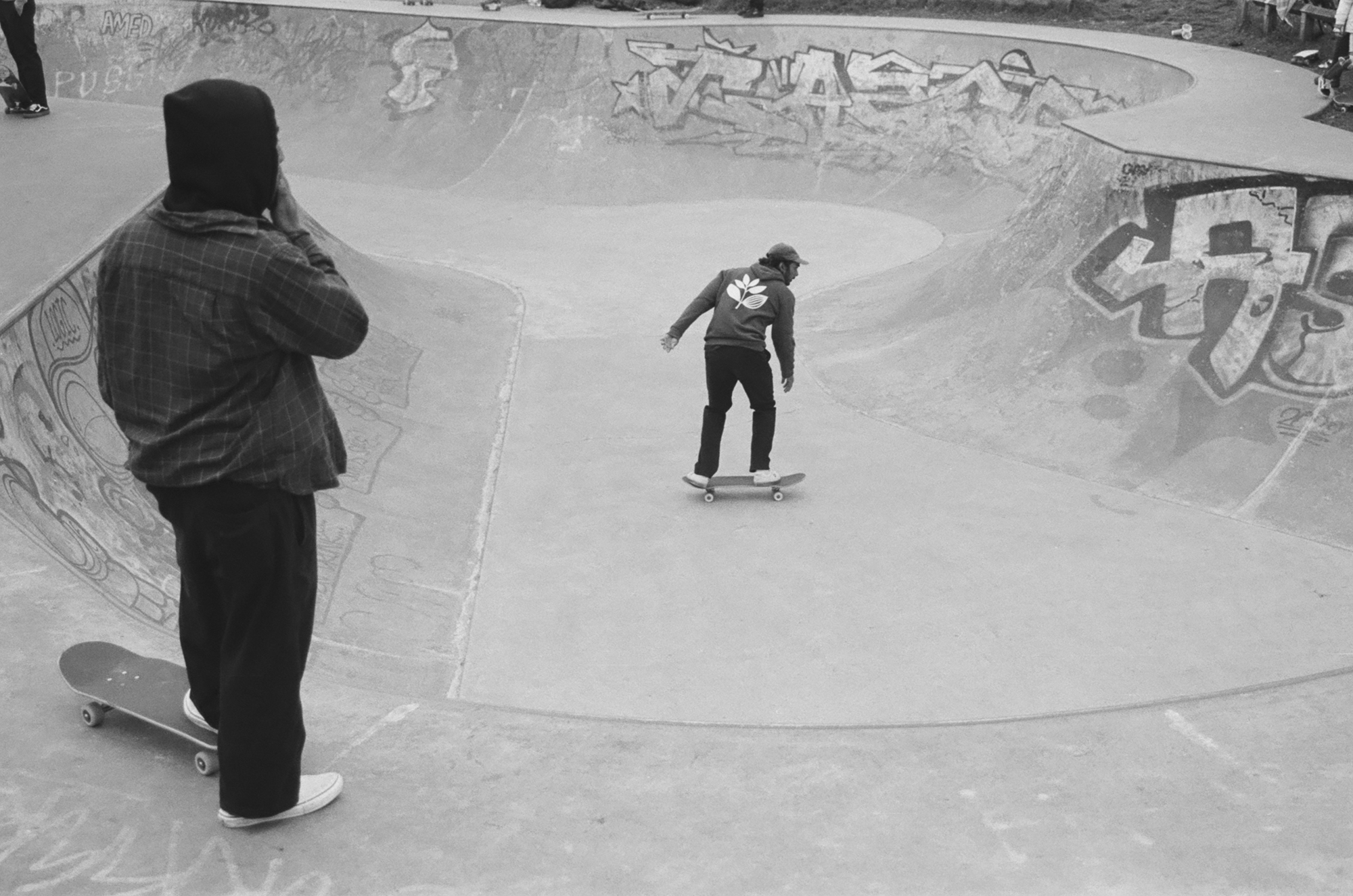 Two skateboarders (Pic: Rob Andrews)