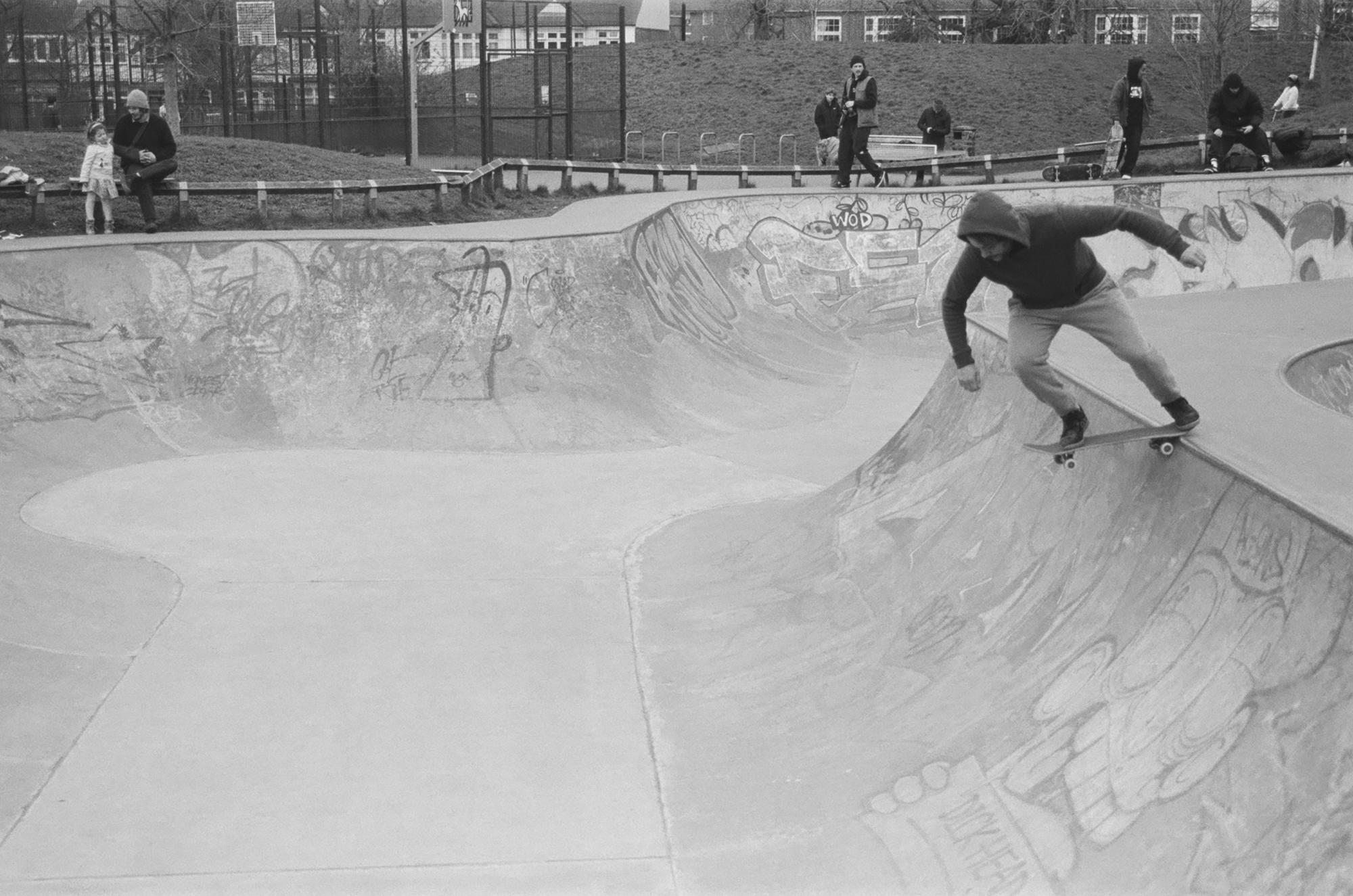Skater on ramp (Pic: Rob Andrews)
