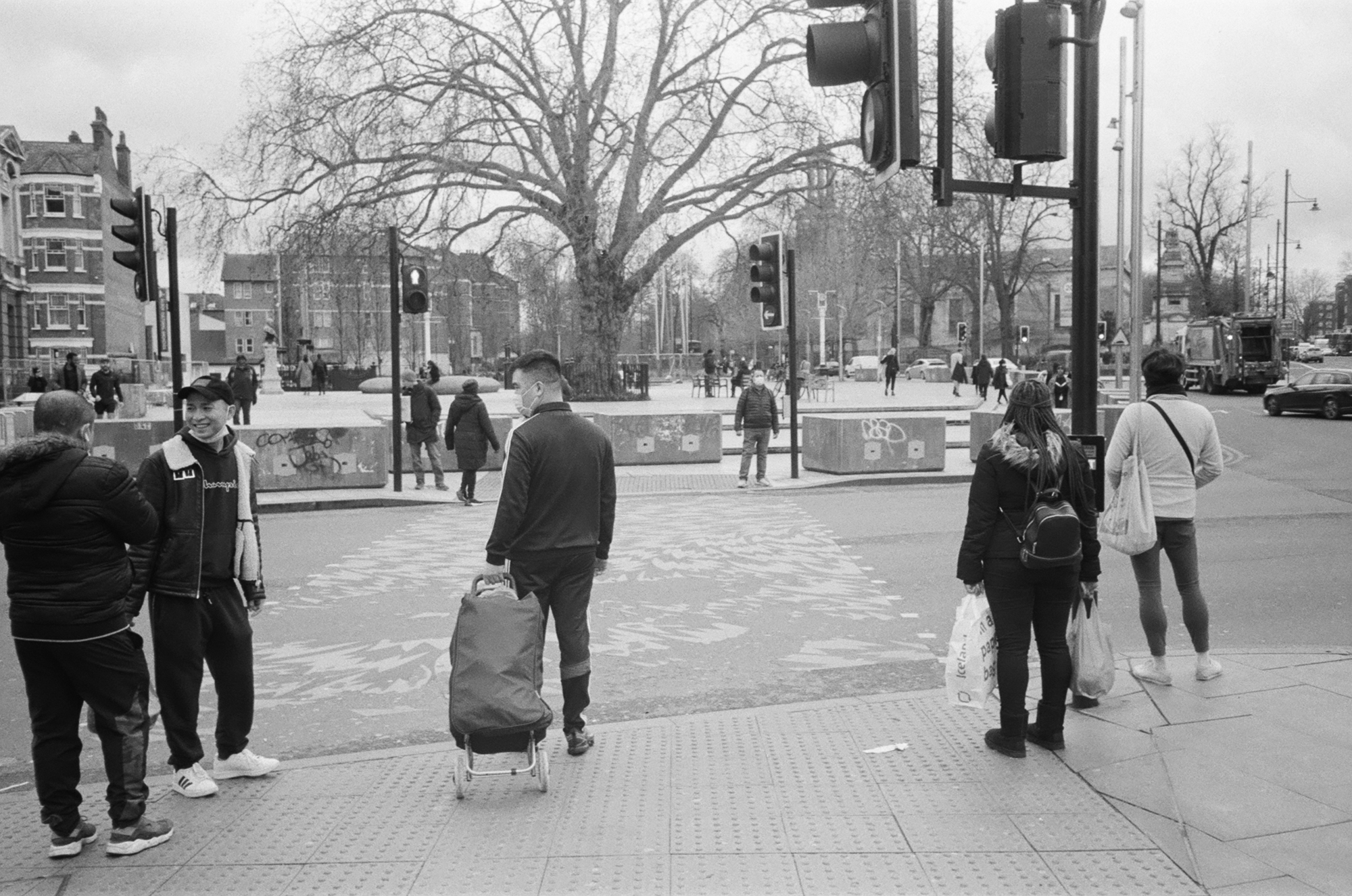 People at pedestrian crossing (Pic: Rob Andrews)