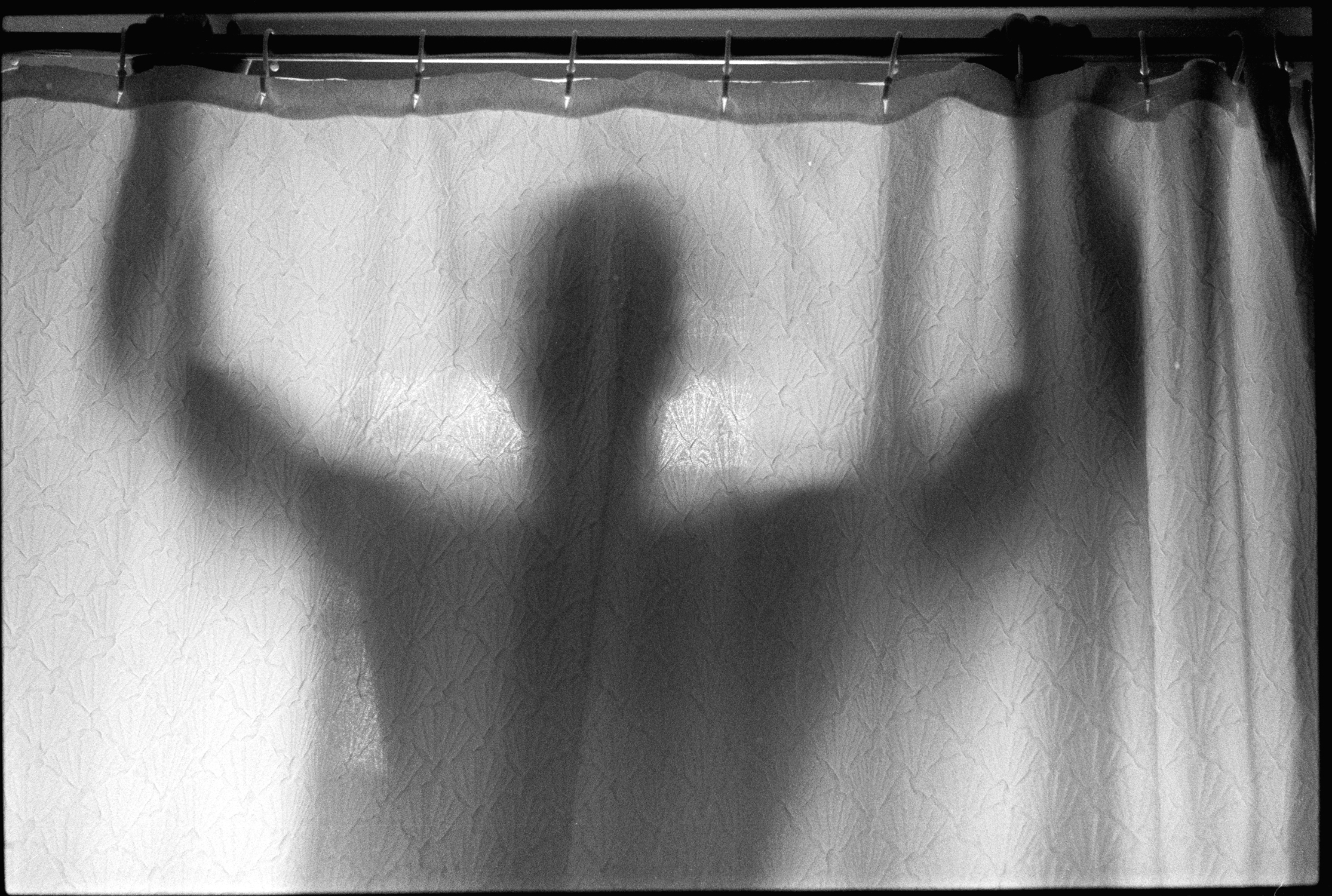 Shadowy figure behind shower curtain (Pic: Starla Little)