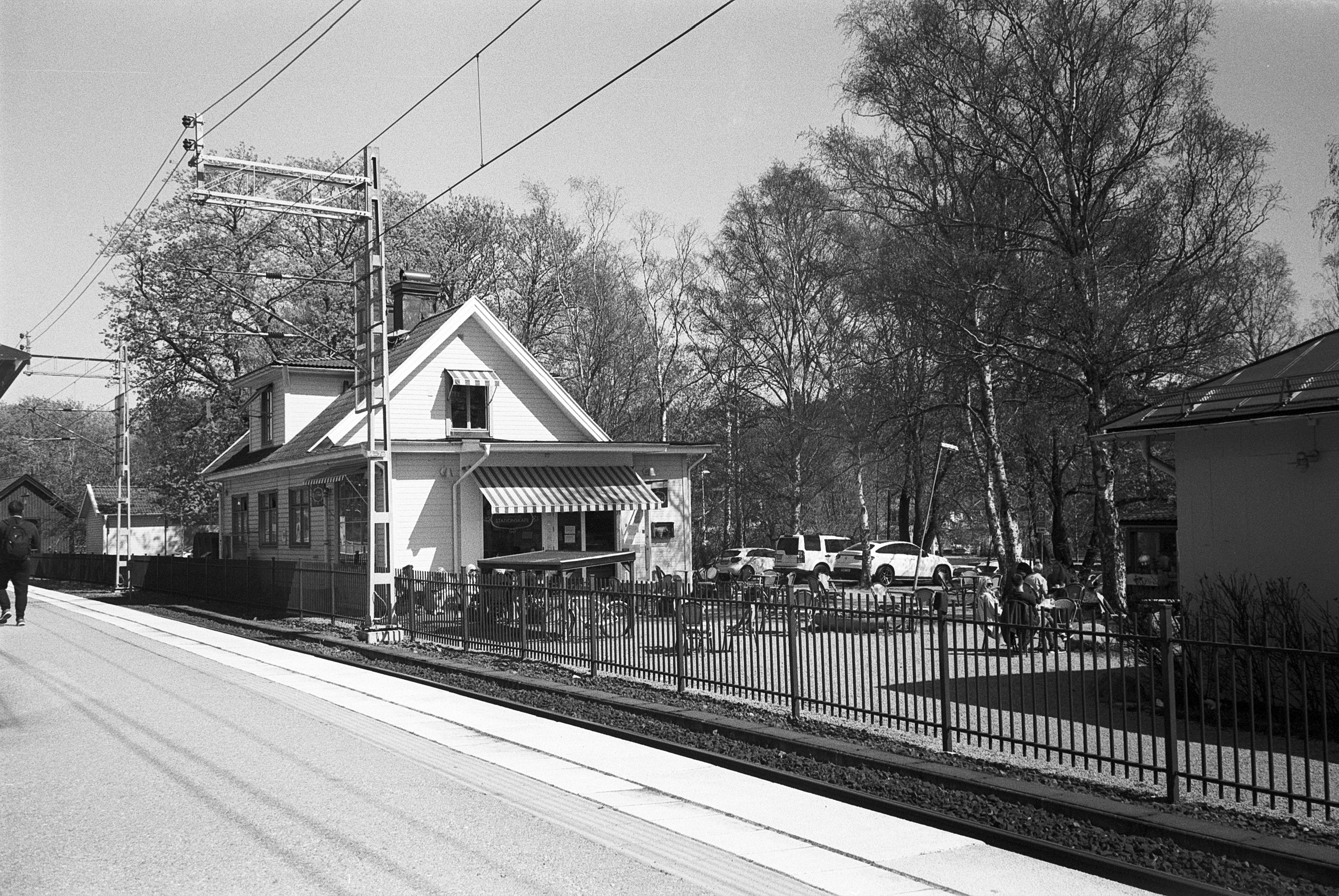 Viggbyholms stationskafé (Pic: Skoge Farman)