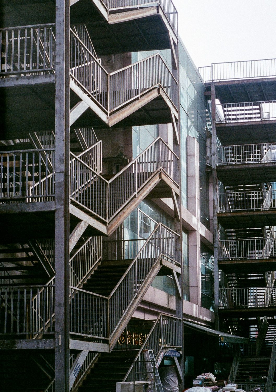 Iron stairways on side of building (Pic: Jay SE1)