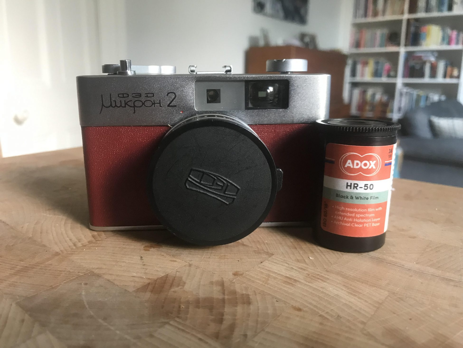 Adox HR-50 and FED Mikron-2 (Pic: Stephen Dowling)