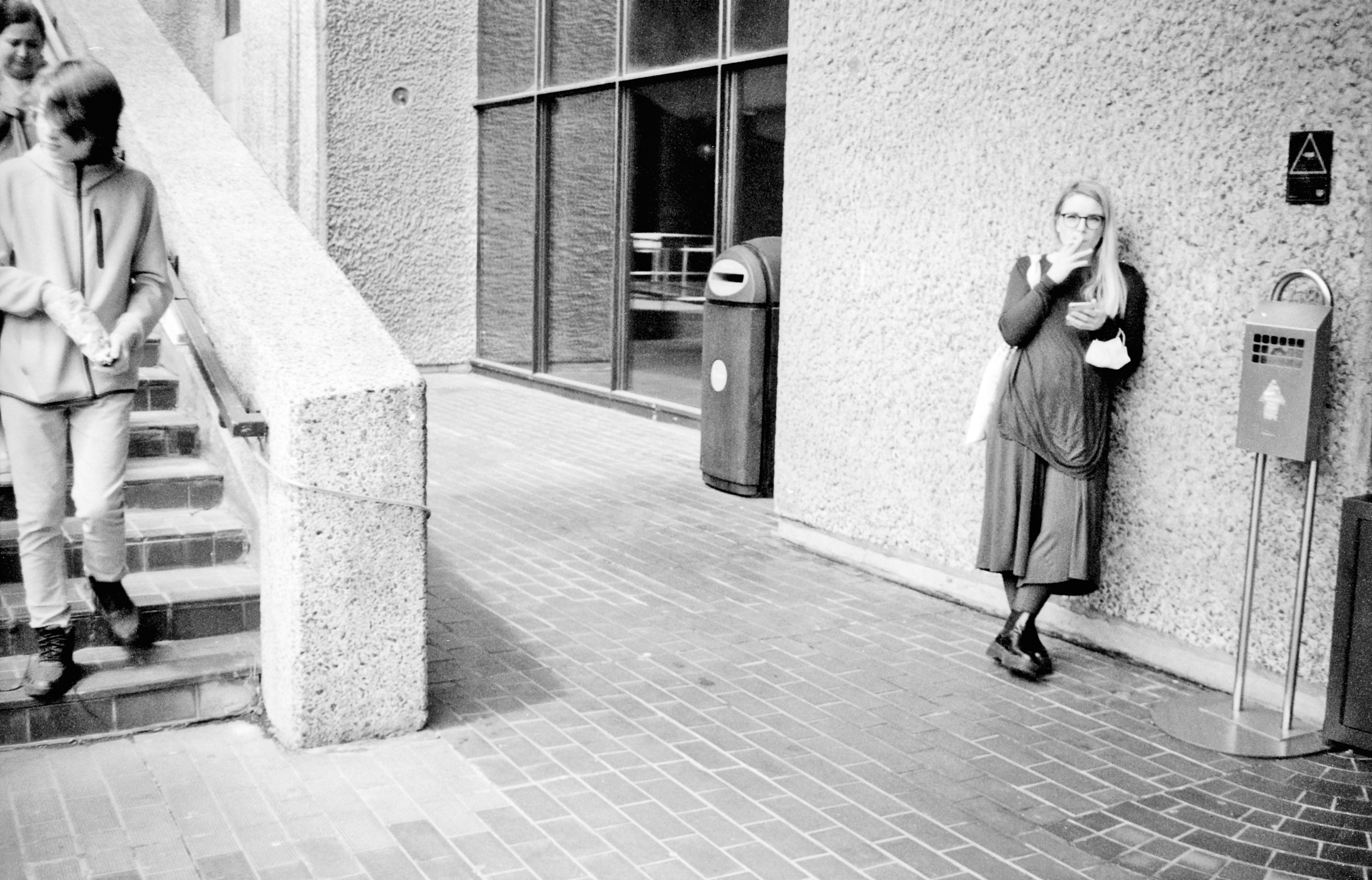 Woman smoking by stairwell (Pic: Stephen Dowling)