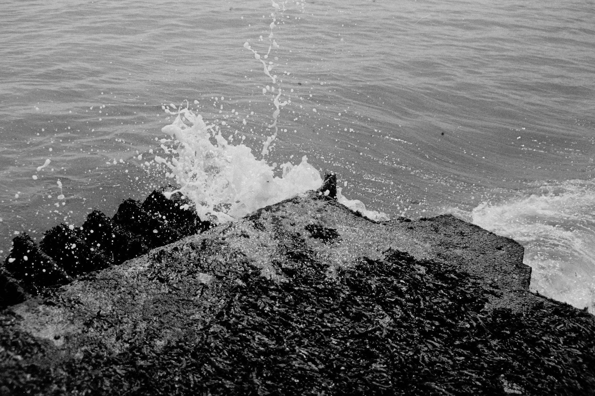 Crashing surf on pier (Pic: Rachael Tabone)