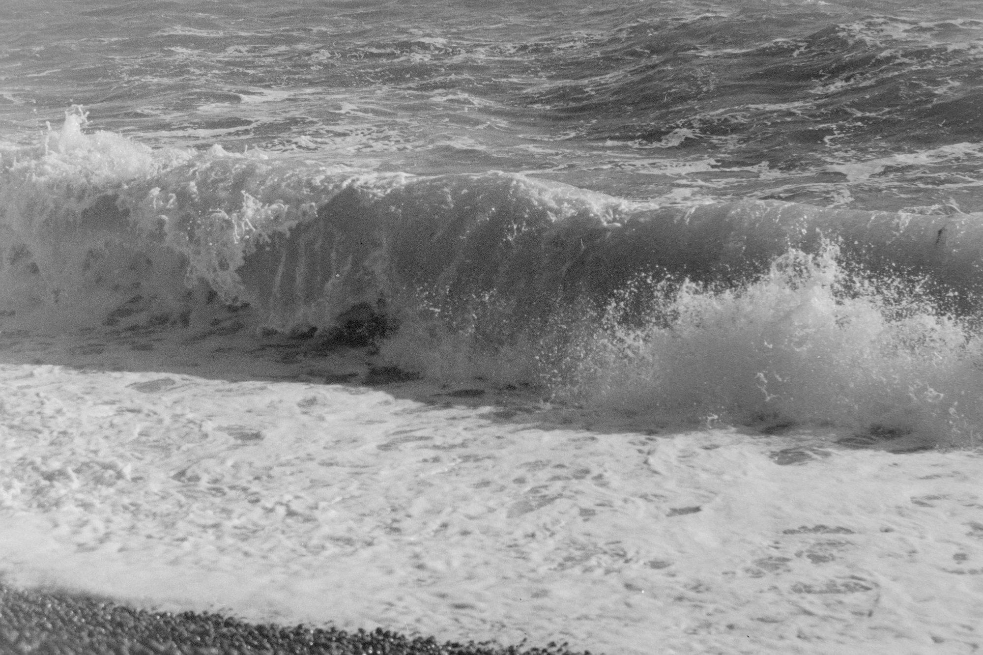 Crashing surf on beach (Pic: Rachael Tabone)